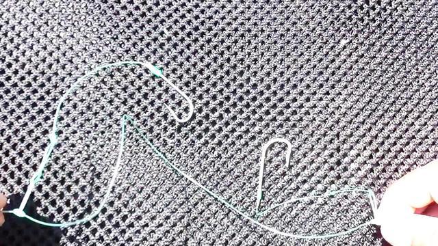 一条线串钩的绑法图解