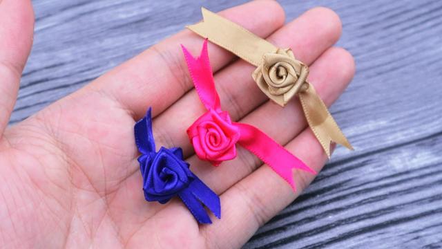 丝带玫瑰花包装图片