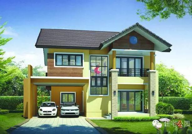 5栋25万左右二层乡村自建别墅全套设计图,舒适美观兼实用