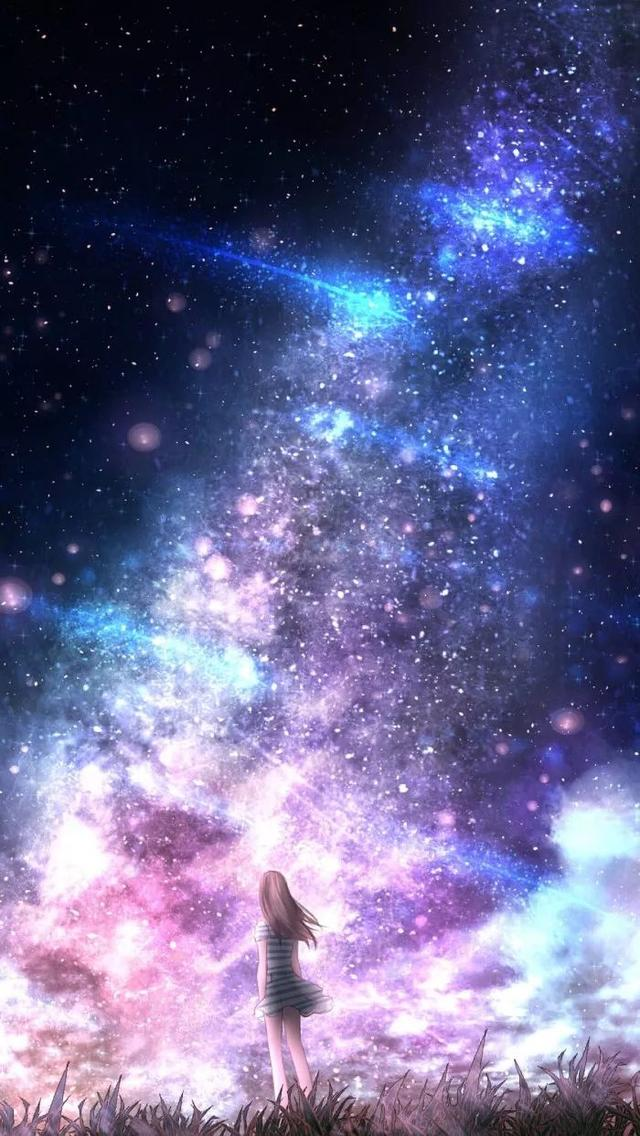 唯美星空高清壁纸_风景静物_我要个性网