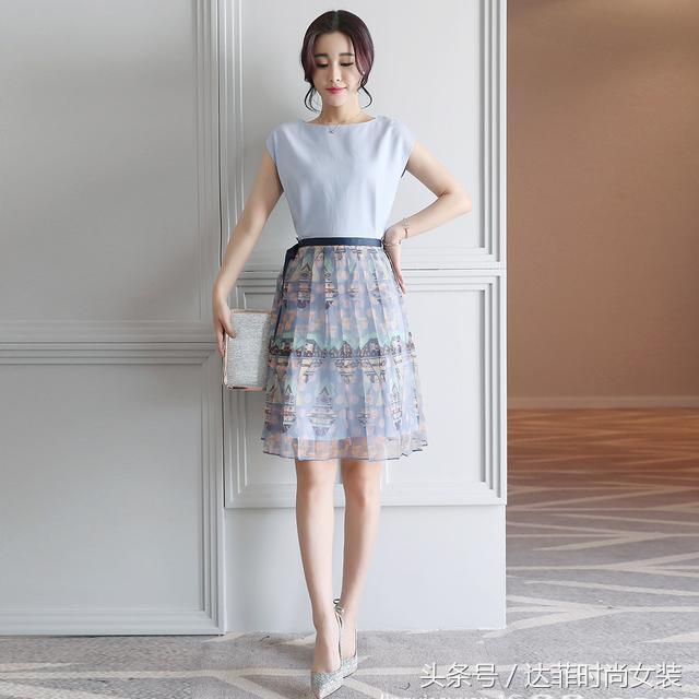 韓版雪紡蕾絲連衣裙