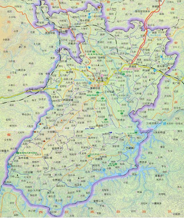 黔西南州地图