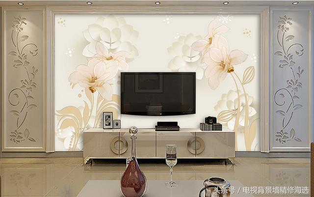 3d立体客厅墙纸特效