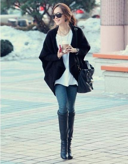 穿衣打扮:教你过膝长靴的N种搭配方式,哪种适合你呢?
