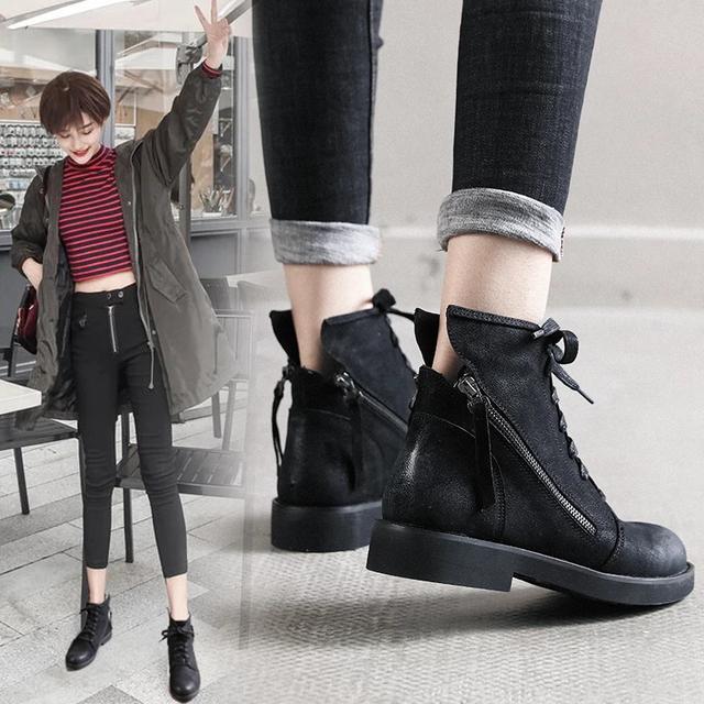 秋季新款短靴,穿出自我风尚,分分终撩到自己的少女心