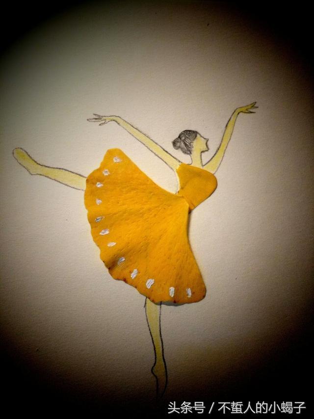 银杏叶做的创意画,立体玫瑰花,太美了!快来试试