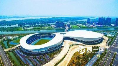 国内首座大型室内田径馆 南京青奥体育公园主体完工!