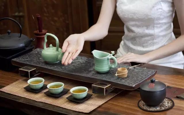 茶具正确摆放图片