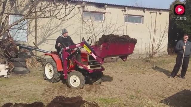 康好学农用四轮改铲车这期视频连接铲斗就差一步了