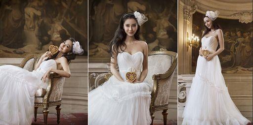 杨颖的婚纱照,图一身材超赞,图五甜蜜恩爱_新浪看点