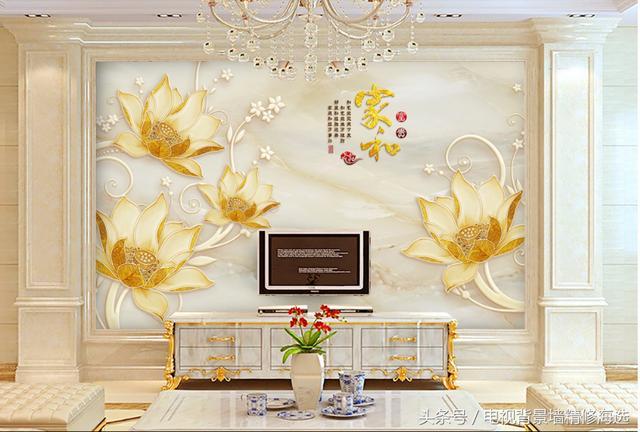 现代简约瓷砖雕刻背景墙,美式乡村风格巴黎树叶