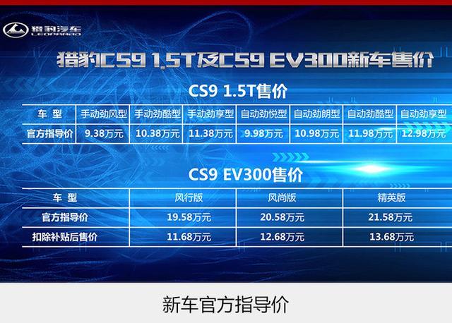 獵豹cs9ev新能源