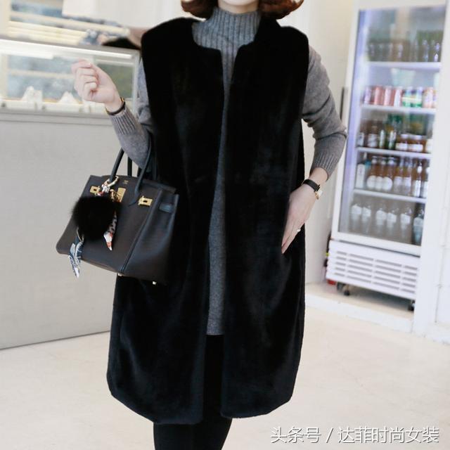羊剪绒大衣女冬装新款韩版中长款羊羔毛羊毛海宁皮草外套