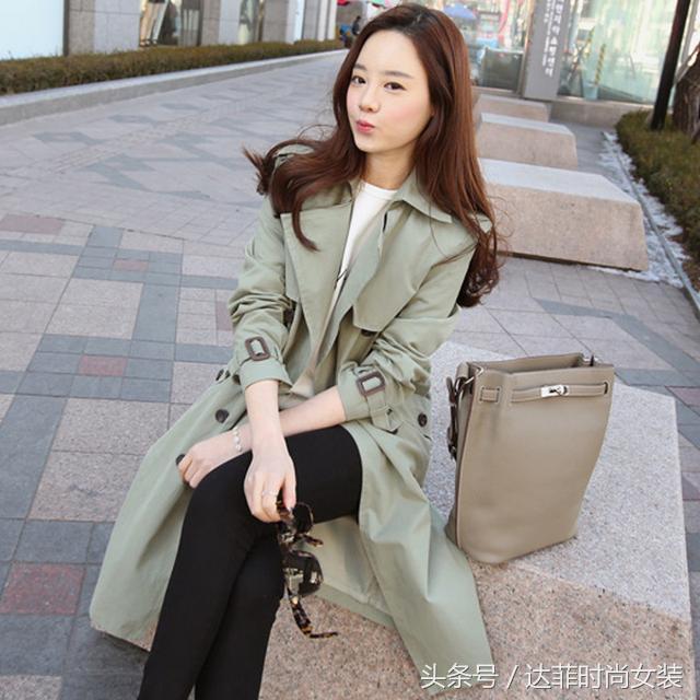 2014春秋装新款女装大码休闲女式风衣正品气质韩版修身中长款外套
