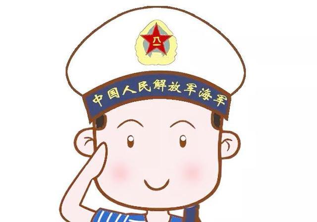 中国海军迷彩帽简笔画