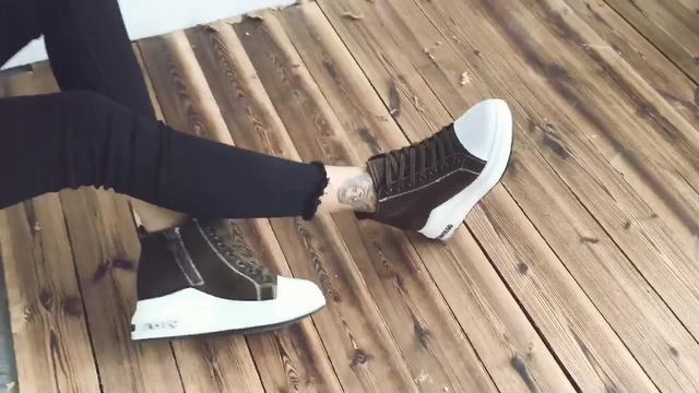 内增高女鞋新款棉鞋