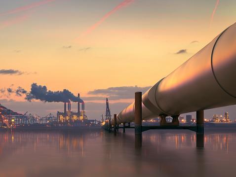 中俄石油管道示意图