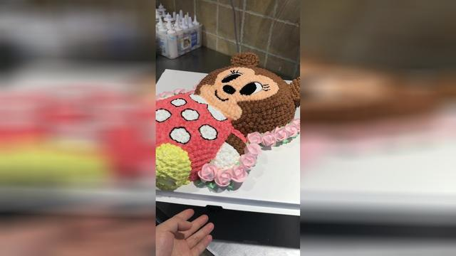 So nice cake don't have the heart to eat