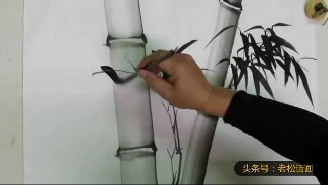 水墨画入门竹子