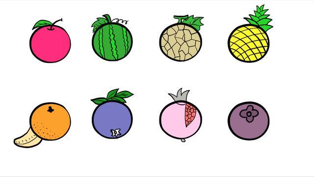 简笔画大全水果彩色