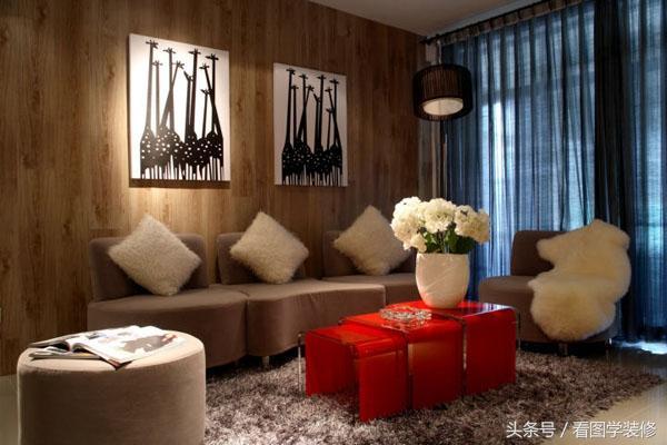 八十平方两室一厅装修图,恬静淡雅的80平两居室装修案例