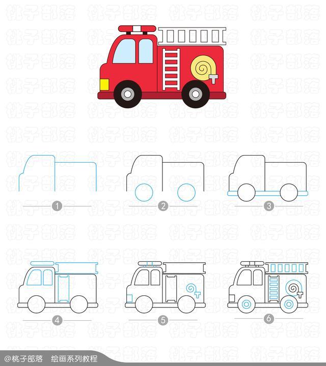 小汽车简笔画大全,儿童汽车简笔画素材图 - 高光网