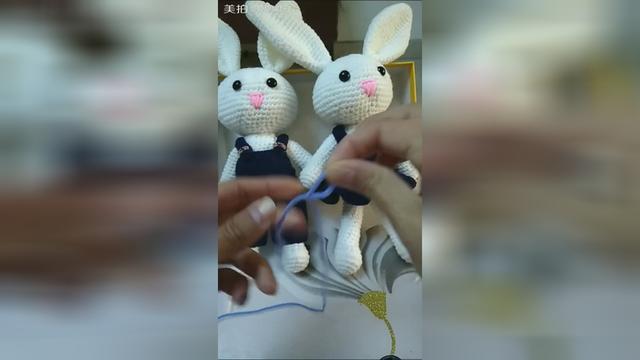 小兔子玩偶鉤編