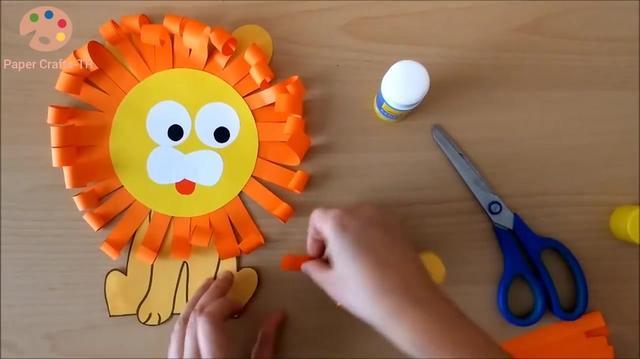 卡纸狮子面具手工制作