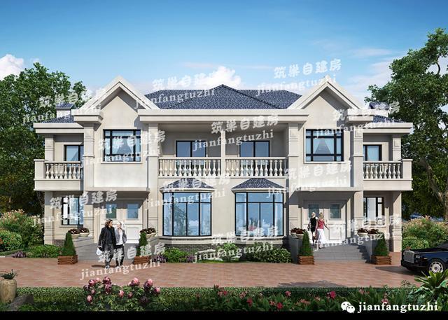 35万2层半双拼别墅22x11,农村兄弟建房最佳选择(全套设计方案)