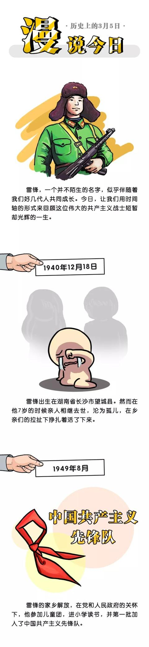 雷锋简笔画卡通