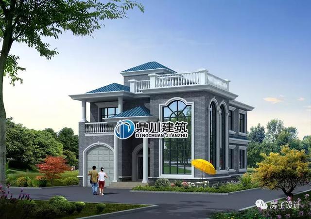 别墅设计:两层半现代风格别墅,双拼格局,两兄弟刚好一人一半