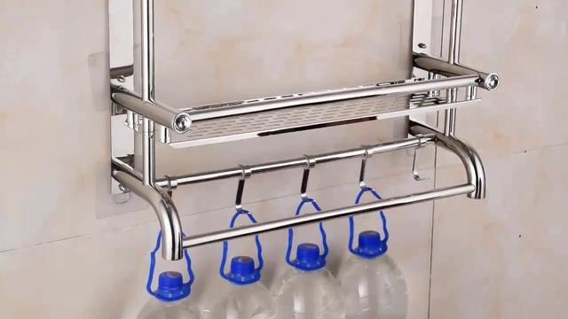 浴室置物架免打孔 太空铝多层方形洗手间挂件壁挂 厕所置物...
