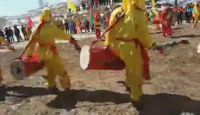 甘肃定西常川蓆滩社火:筒子鼓