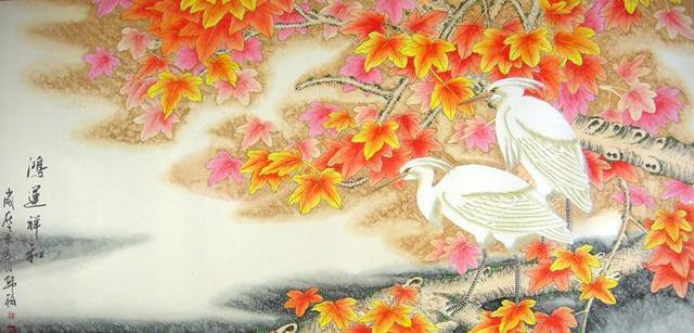卧室床头挂什么画好 国画花鸟画家居装饰的首选