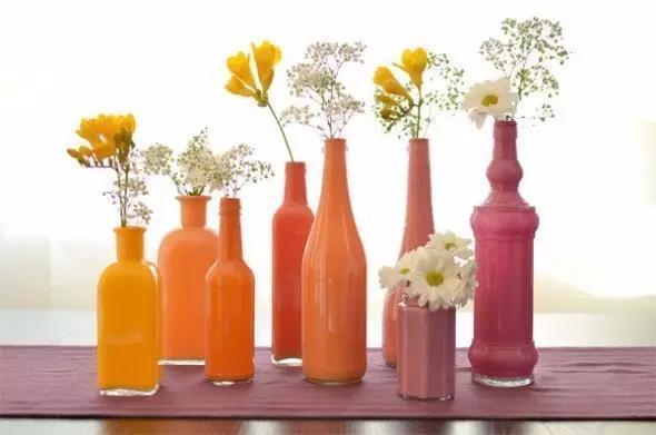 玻璃瓶diy花瓶