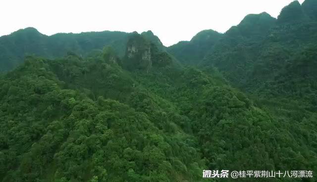 航拍:一直以来原生态环境很好,桂平紫荆山水风采时光