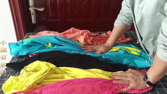 旧衣服手工坐垫diy