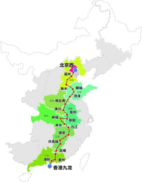 京九高铁鲁豫段东西线路线方案:都经过山东多地_东方头条