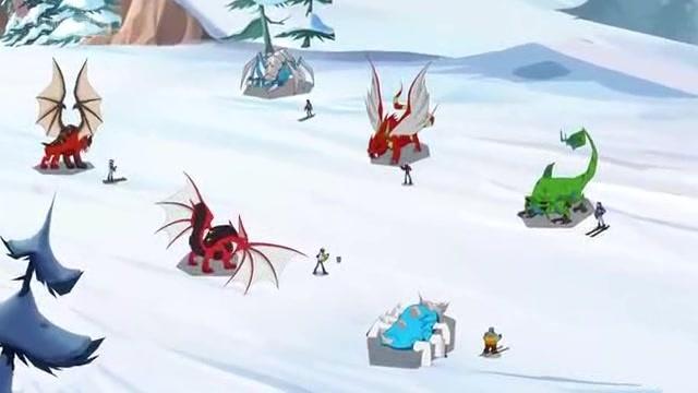 兽王争锋 雪地里面六只灵兽都已合成,好壮观,啾啾还想去帮忙