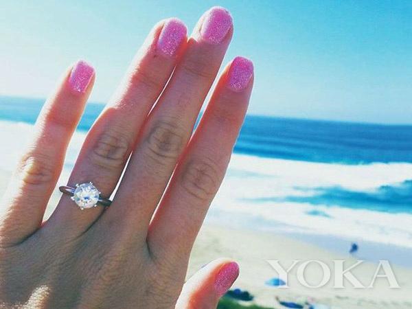 夫妻结婚戒指拍照手势