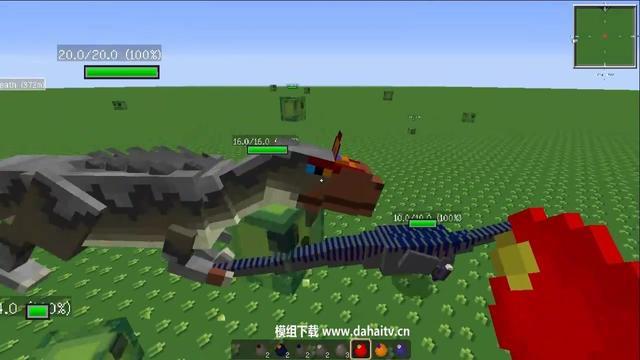 大海解说 我的世界 侏罗纪公园恐龙模组试玩