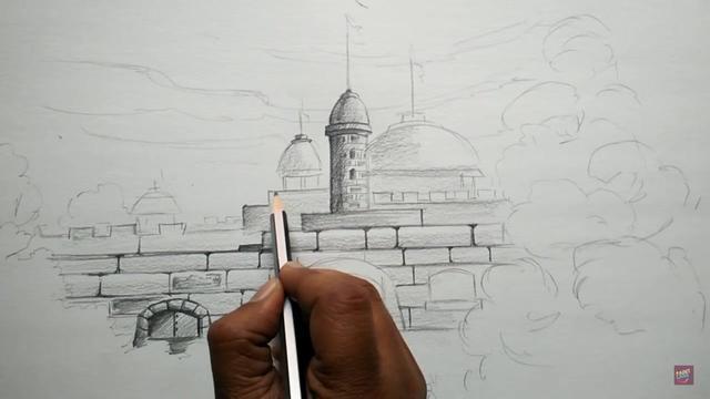 城堡简笔画图片大全,城堡怎么画最最最漂亮 - 高光网