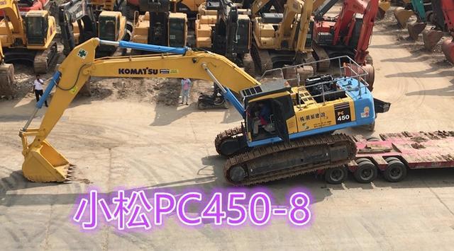 二手小松450-7挖掘机现场视频详解