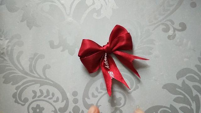 喜糖丝带蝴蝶结的打法