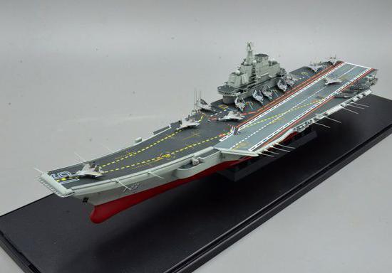 新鲜出炉的企业号航母模型品鉴