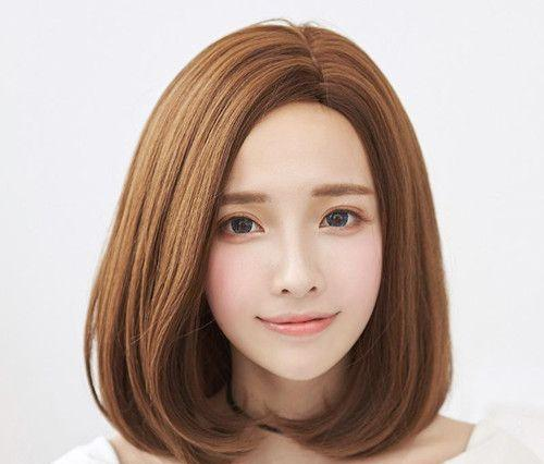 大圆脸适合的发型-圆脸短发发型图片-圆脸... _香香美发手机版
