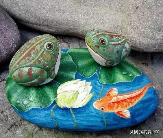 石头画图片大全简单花