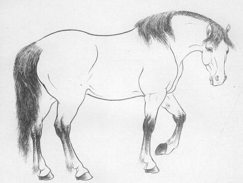 工笔线描的十八罗汉图
