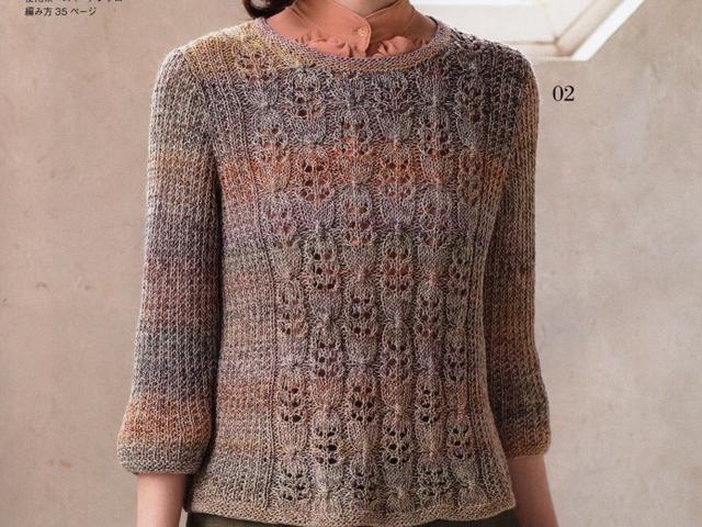「针织作品」100款套头衫和开衫编织花样(部分图解)