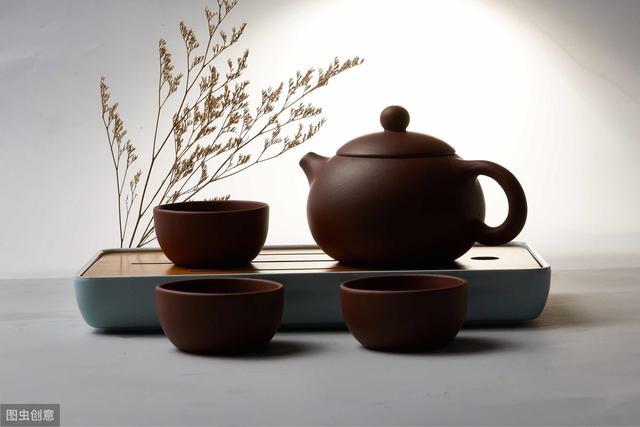 茶台茶具摆放